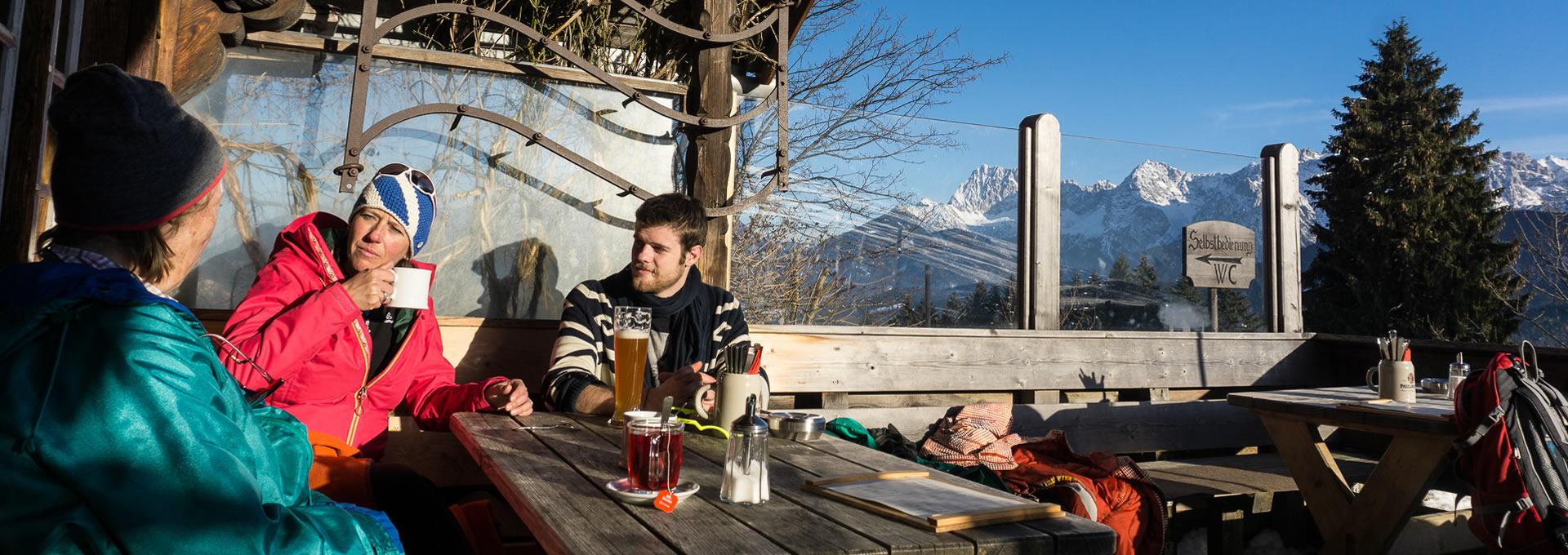 Winterurlaub auf der Elmauer Alm bei Klais